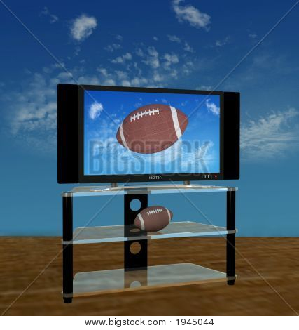 Hdtv Football In Fall Sky