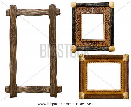 collection of carved decorative  frame