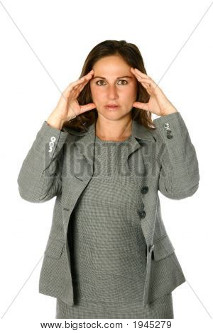 Businesswoman Appearing Shock Isolated