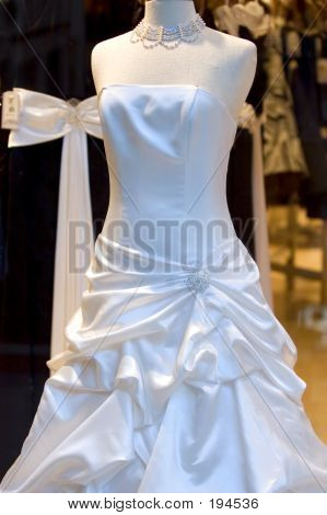 Wedding Dress On Display