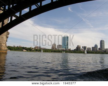 Boston'S Skyline In Massachusetts
