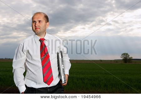 businessmen and nature