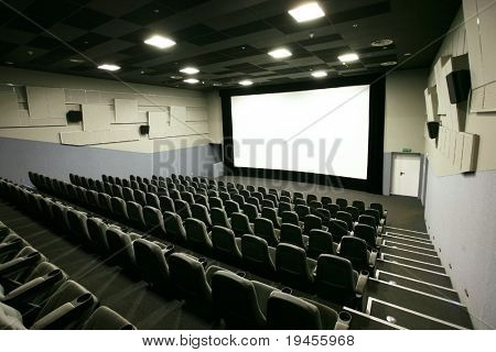 Cinema hall in a modern multiplex