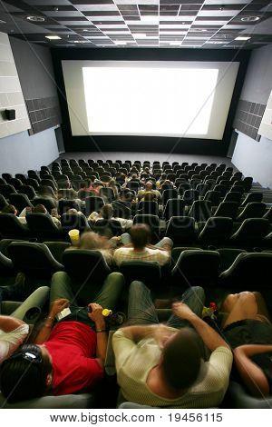 Unrecognizable people in a cinema