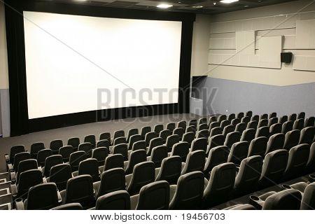 Modern cinema and wide white screen