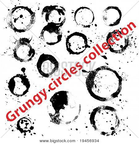 Grungy circles collection