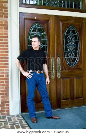Man And Double Doors