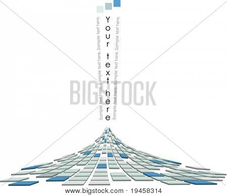 Abstract 3D vector volcano ejection