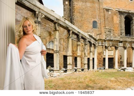 Woman In The Roman Forum