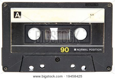 Audio cassette isolated on white