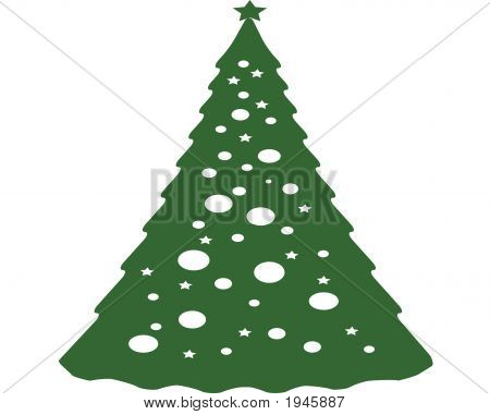 A Christmas Tree Cntered On White