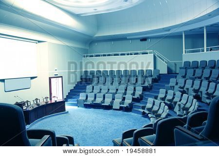 Empty conference hall
