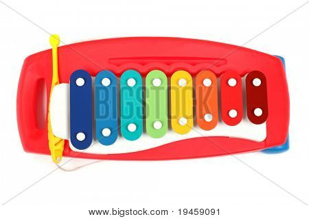 Xylophone toy isolated