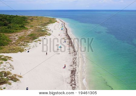 Aerial view of a beautiful Florida Beach