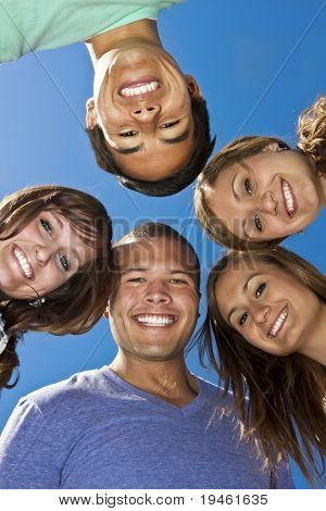 Smiling group of Multi-racial Young Adults
