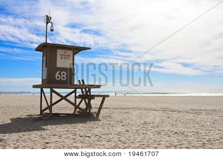 Lifeguard Turm in Newport Beach, Kalifornien
