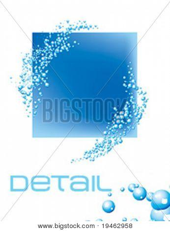 Wasser Blasen. Bitte beachten Sie, dass dieser Illustration Illustrator Verlaufsgitter - nur den Futtertrog enthält