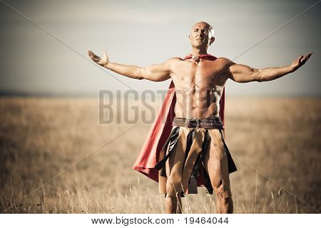 Gladiator, image of a well-built man
