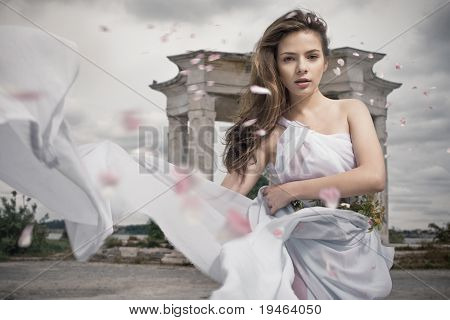 Dynamic image of a beautiful mythic woman