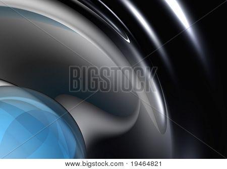 blue sphere in chrom