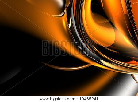 orange&silver background (abstract) 01