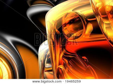 Orange & Silber Hintergrund (abstrakte) 04
