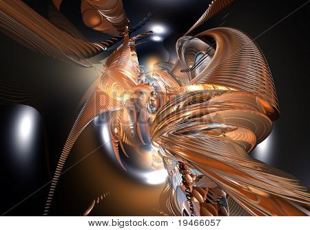 orange space style (abstract) 03