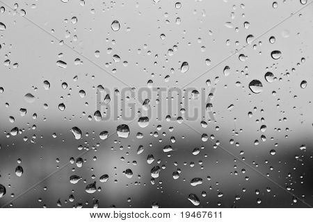 Textura das gotas de chuva