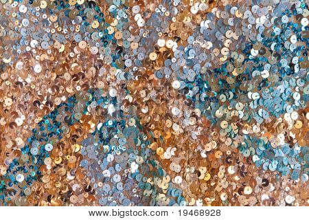 Colorful sequined surface texture