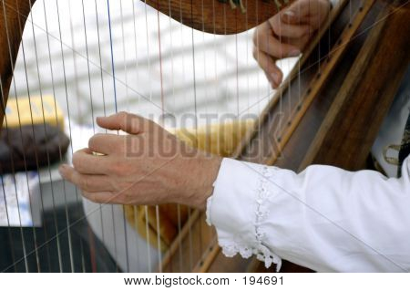 Man Playing A Harp 2