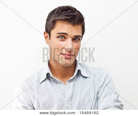 Handsome young man portrait