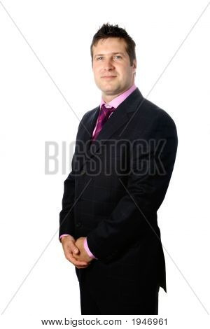Confident Young Businessman Isolated