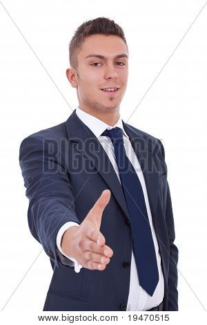 Businessman Waiting For Handshake