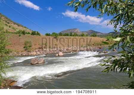 Summer at Animas River in Durango, CO