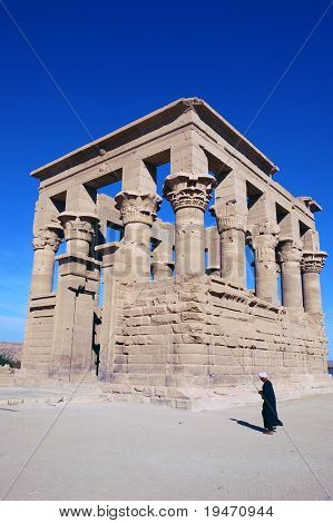 Ancient Philae temple at Egypt