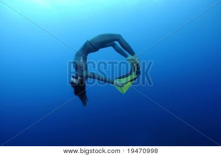 Beautiful free diver training