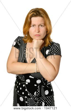 Young Woman Looking Upset