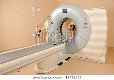 Magnetic Resonance Imaging machine - a series of dramatically lightened MRI.