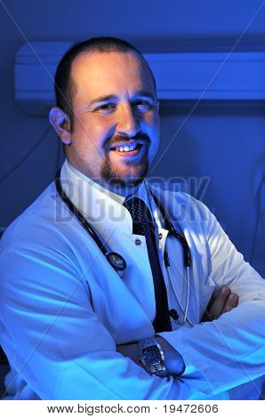 Medical doctor at hospital emergency room intensive care - a series of emergency room photos.