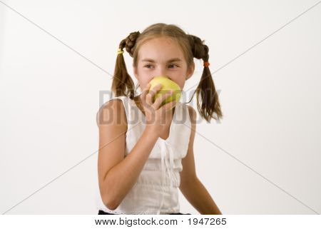 Girl Eating Apple I