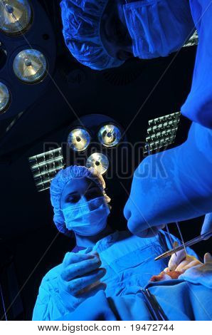 Medical team performing an operation - a series of SURGERY related images.