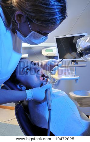 Visit at the dentist - a series of DENTAL  related images.