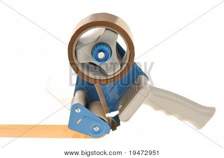 Packaging tape dispenser isolated on white background