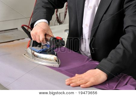 Dressmaker ironing fabric - a series of TAILOR related images.