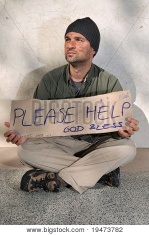 Homeless begging for help - a series of HOMELESS images.