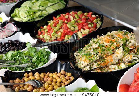 Catering comida en una fiesta de casamiento - una serie de imágenes del restaurante.