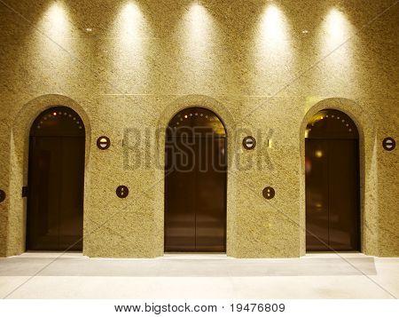 Elevator in department store
