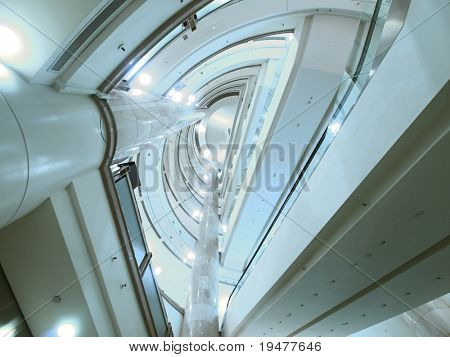 Look upward in modern building