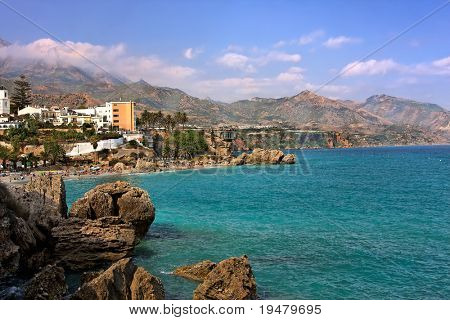 View on Balcony of Europ, Nerja, Spain