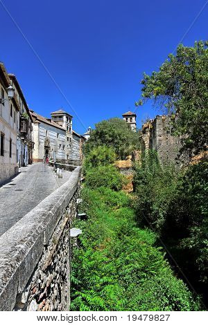 Noon, Street in Granada, Spain